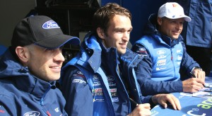 #57 Ford GT Driver Line-Up - Marino Franchitti (L), Harry Tincknell (C) and Andy Priaulx (R)