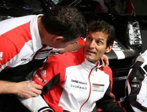 Mark Webber Looking Relaxed At Driver Signing (Photo: Roger Jenkins)