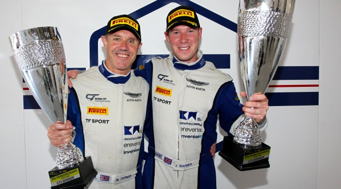 Barnes and Farmer Win British GT Round Six For TF Sport