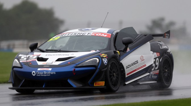 Tolman Motorsport And Black Bull Ecurie Ecosse Quickest In British GT FP2 At Donington Park (10.09.16)