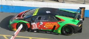 The #33 Barwell Motorsport Lamborghini Huracan GT3.