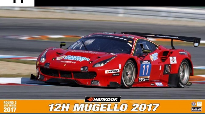 Win For Scuderia Praha Ferrari F488 GT3 In 24H SERIES Hankook 12H MUGELLO (19.03.17)