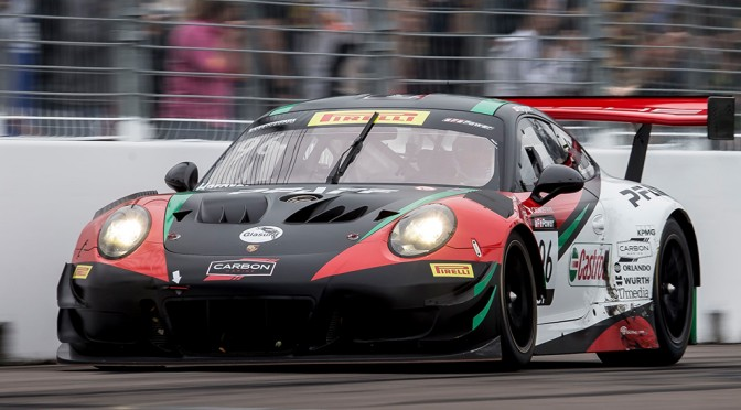Hargrove / Porsche  Win On GT Debut In Pirelli World Challenge (11.03.18)